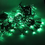 200 LED Green Light Outdoor Décoration de Noël Waterproof Solar Power Light cordes>