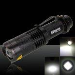 SIPIK-SK98 CREE-T6 1000 Lumens 10W 3.7-4.2V 1Led 3Modess Focus Waterproof Flashlight Black