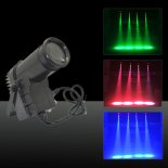 30W Multicolored Light 3 Control Modes Mini LED Stage Lamp EU Plug Black