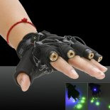 4000mAh Bright Green Laser Laser Beam Glove Black