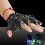 4000mAh grüner Laser-heller Lichtstrahl Laser-Handschuh-Schwarzes