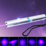 5000mW 450nm Blue Ray Multifunktions-Kupfer Laserpointer Silber