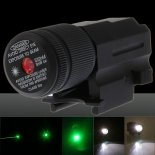 30MW 532nm Green Laser Sight and Flashlight Combo c120-0002r Black>