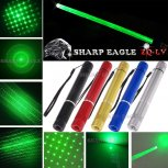 SHARP EAGLE ZQ-LV 400mW 532nm 5-in-1 Diverse Pattern Green Beam Light Multifunctional Laser Sword Kit Black