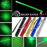 SHARP EAGLE ZQ-LV 400mW 532nm 5-in-1 Diverse Pattern Green Beam Light Multifunctional Laser Sword Kit Black>