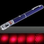300mW Middle Open Starry Pattern Red Light Naked Laser Pointer Pen Blue