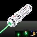 200mW 532nm Green Light Laser Pointer Pen 12 Tube 5 Head Silver