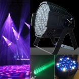162W 54-LED DMX512 4 Control Modes RGB Light LED Stage Lamp Black