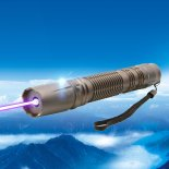 2000mW 450nm de ponto único azul do raio laser anti-derrapante Laser Pointer Pen