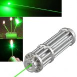 Uking ZQ-15LA 50mW 532nm grüne Lichtstrahl Single Point Zoomable Laser-Zeiger-Feder-Silber>