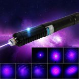 5 em 1 2000MW Multifunctional Capacitive Laser Pointer Preto (2 x 1200mAh)