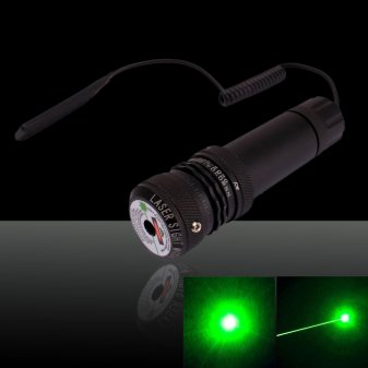 150mW 532nm L635 Gun-shape Green Laser Pointer Black (with one CR123A battery)