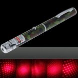 30mW Médio Aberto estrelado Pattern Red Light Nu Laser Pointer Pen camuflagem colorida