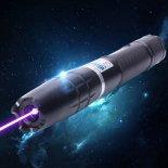 Kit penna puntatore laser in acciaio inossidabile a singolo punto con raggio blu da 10000mW 450nm con batterie e caricabatterie nero