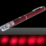 200mW Middle Open Starry Pattern Red Light Naked Laser Pointer Pen Red>
