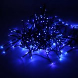 200-LED Blue Light Outdoor Waterproof Christmas Decoration Solar Power String Light