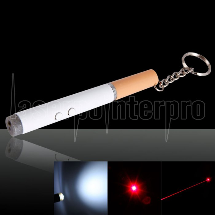 cigarette shaped red laser pointer with ball pen and led light