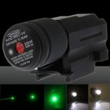 5MW 532nm Green Laser Sight and Flashlight Combo c120-0002r Black>