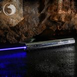 Uking ZQ-15B 8000mW 445nm blaue Lichtstrahl-5-in-1-Zoomable High Power Laser-Pointer Pen Kit Silber