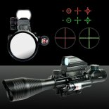 Uking ZQ-MZ011 4-12X50 Red Light holográfico Laser Sight Kit Preto>