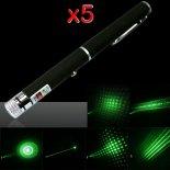 5 PIÈCES 5 en 1 100mW 532nm Mid-ouverte kaléidoscopique stylo pointeur laser vert>                                                   </a>                                               </div>                                               <div class=