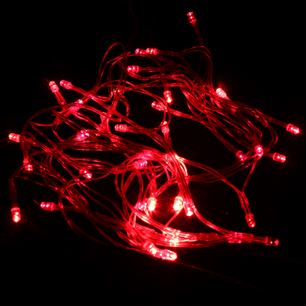 4m 40 LED Red Light Christmas Party Battery String Light - Laserpointerpro.com