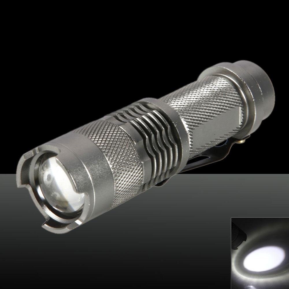 SK68//Q5 250LM 1 Mode Adjustable Focal High Light Flashlight Silver