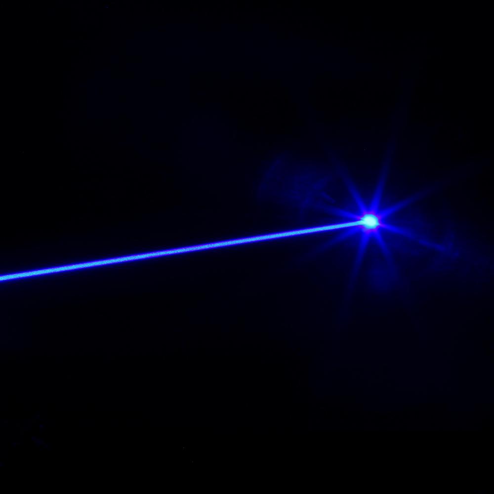 2000mw 450nm Beam Light Blue Laser Pointer Pen Kit Silver