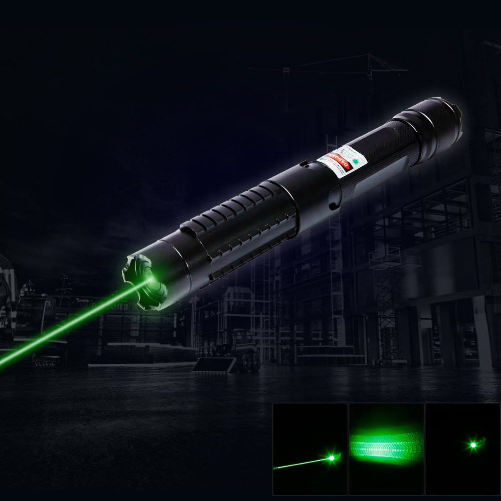 5 In 1 5000mw 532nm Beam Light Green Laser Pointer Pen Kit