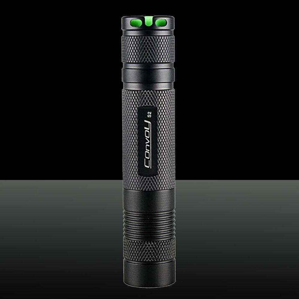 LT-Convoy S2 XML u2-1b 1200LM 5-Mode Aluminum Alloy LED Flashlight with Back Switch Black