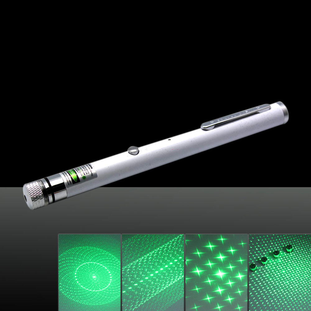 LT-ZS02 500mW 532nm 5-in-1 USB Charging Laser Pointer Pen White