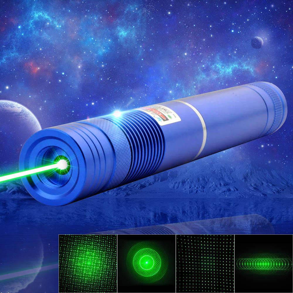 1000mW 532nm Green Beam Light Focusing Portable Laser Pointer Pen Blue