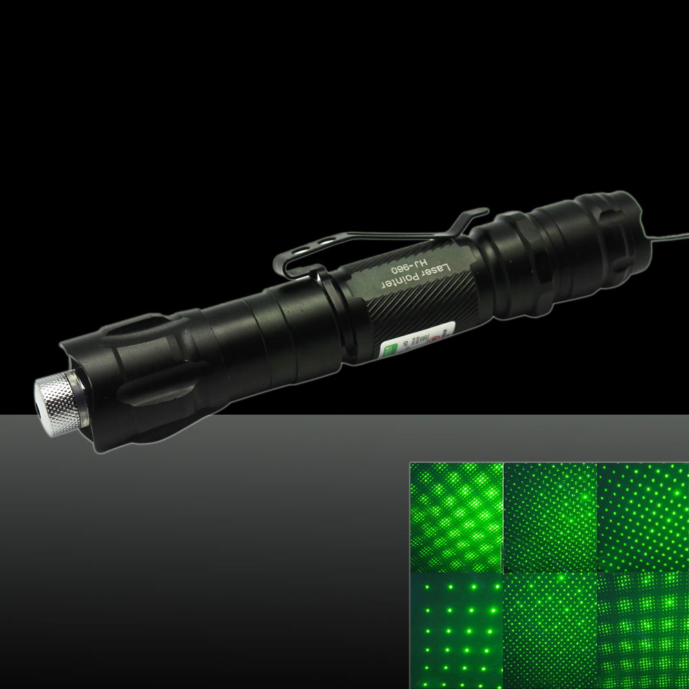 LT-YW502B2 400mW 532nm New Style Starry Sky Green Beam Light Zooming Laser Pointer Pen Kit Black