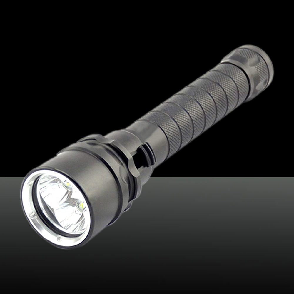 XM-L LED Small Bulb 2000lm White Light Five Modes Adjustable Focus Zooming Aluminum Alloy Flashlight