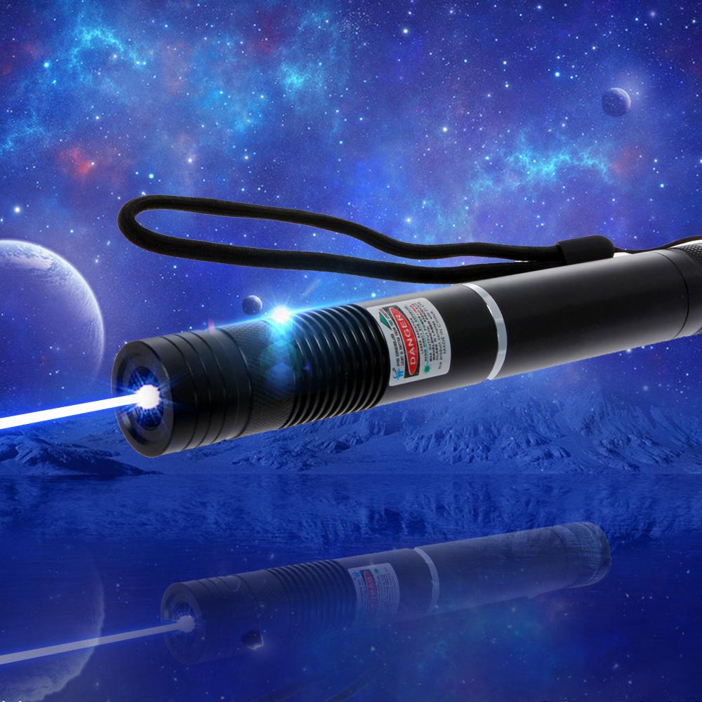 2000mW 450nm Single-point Blue Beam Light Laser Pointer Pen Black