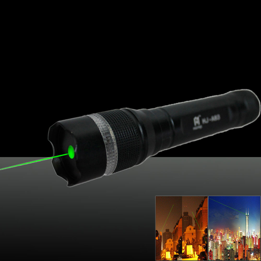 50mw 532nm Green Beam Light Single Dot Light Style Noctilucent Stretchable Adjustable Focus Rechargeable Laser Pointer Pen Set