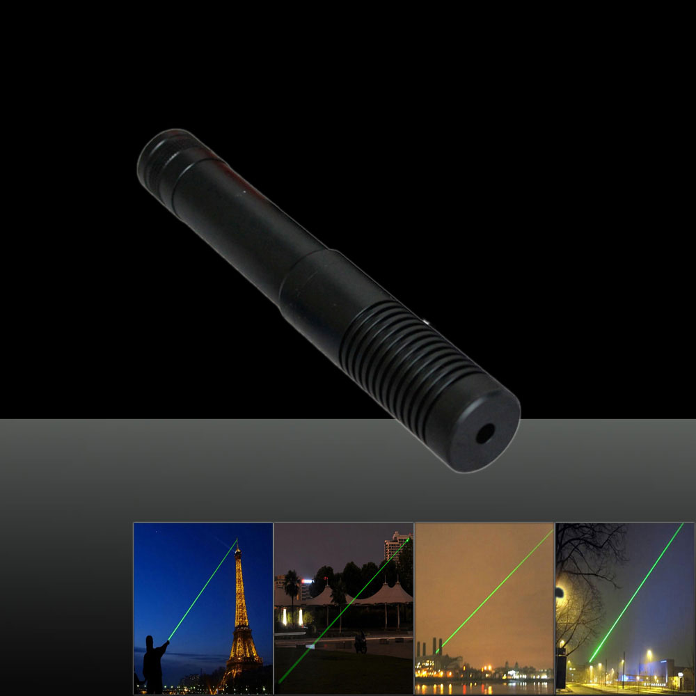 2000mw 532nm Green Beam Light Dot Light Style Separated Crystal Rechargeable Small Head Laser Pointer Pen Set Black