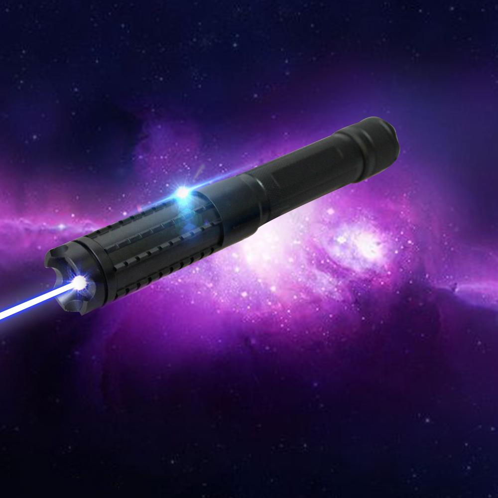 LT-08890LGF 4000mw 450nm Pure Blue Beam Light Multi-functional Rechargeable Laser Pointer Pen Set Black