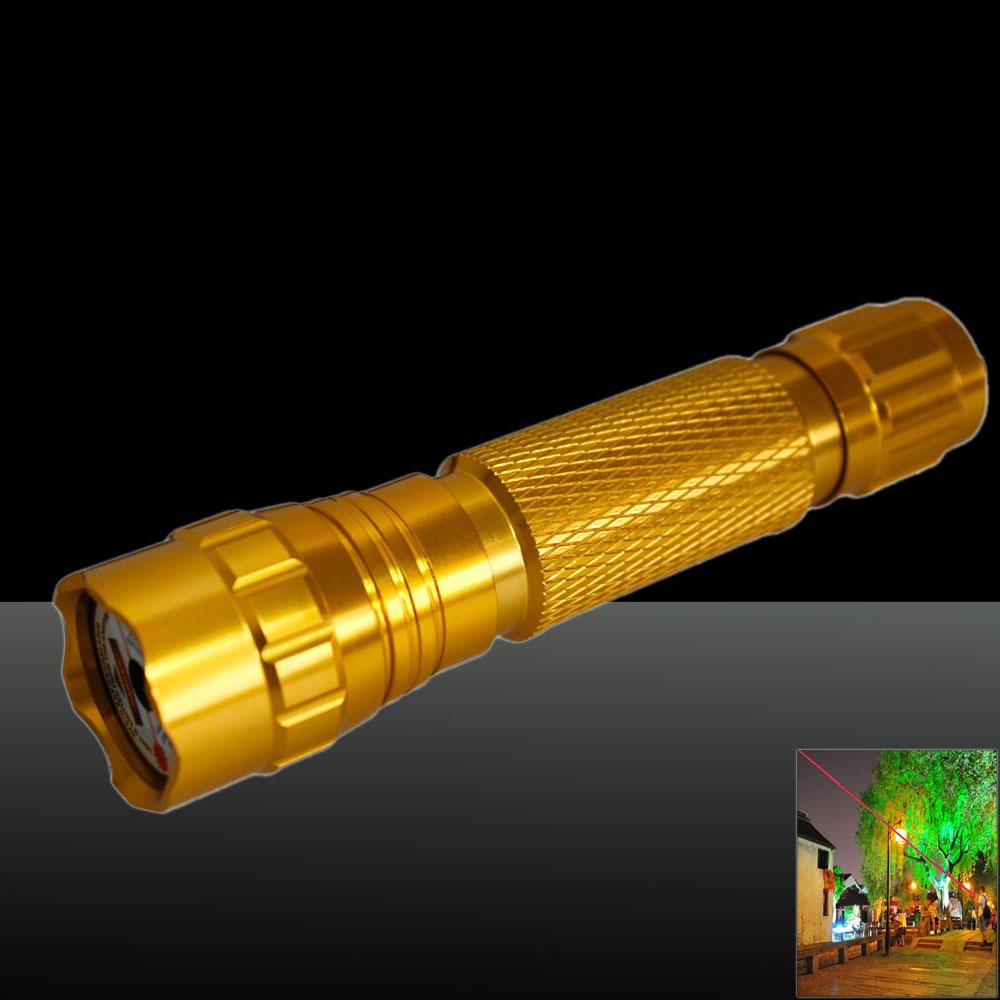 501B 1000mW 650nm Red Beam Light Laser Pointer Pen Kit Golden