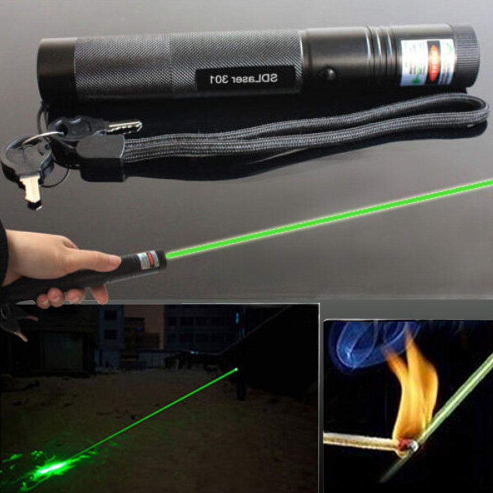 301 500mw Green Light High Power Laser Pointer Kit Black