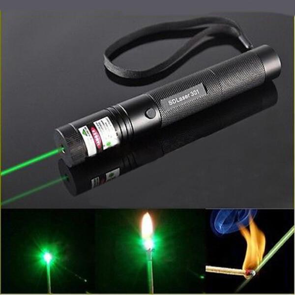 LT-301 300mW 532nm Green Beam Light Single-point Laser Pointer Pen Black