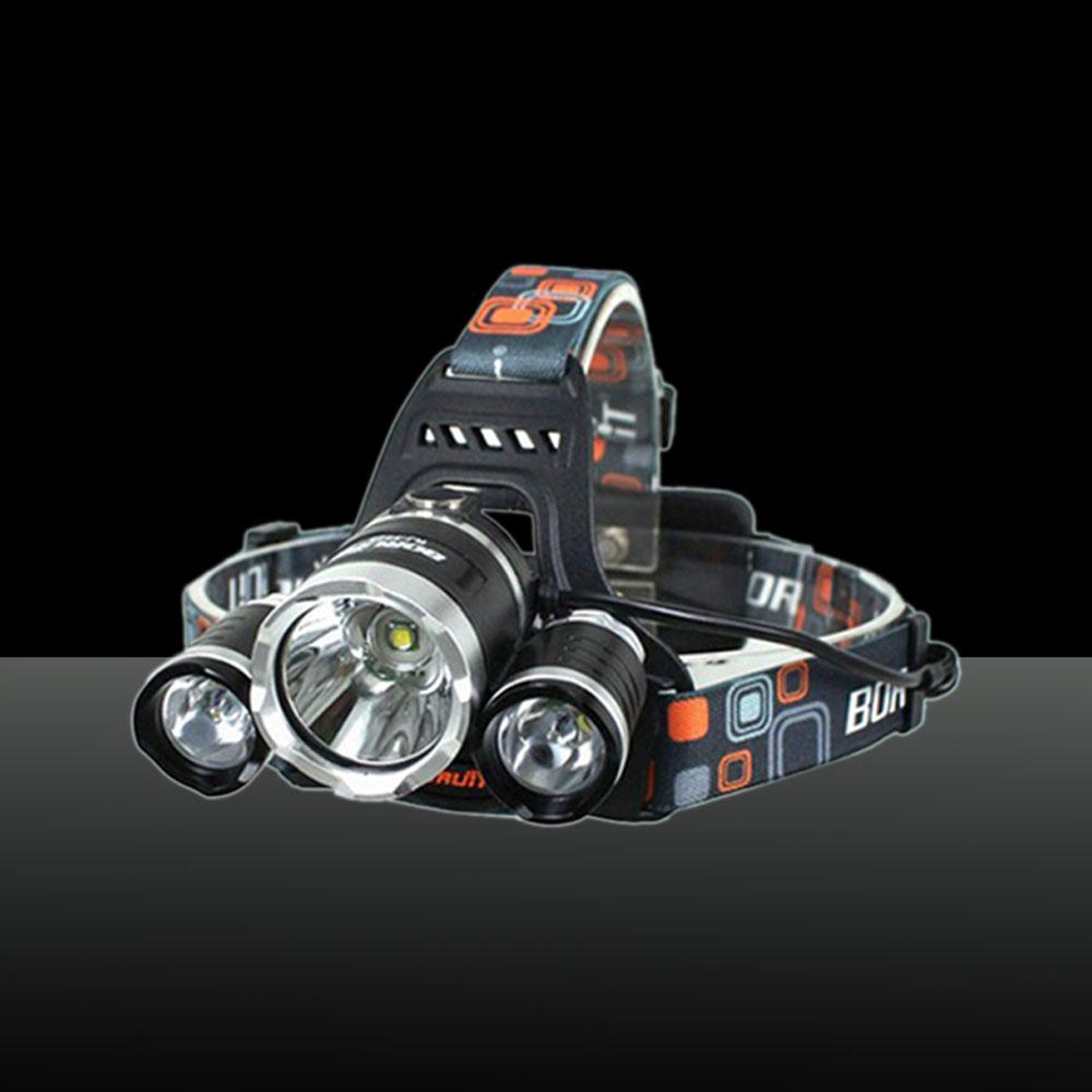 XML 3*T6 5000lm 4-Mode Single LED Headlamp Black