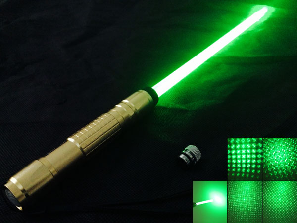 200mW 532nm Green Light Single-point Griding Texture with Laser Sword Golden>
