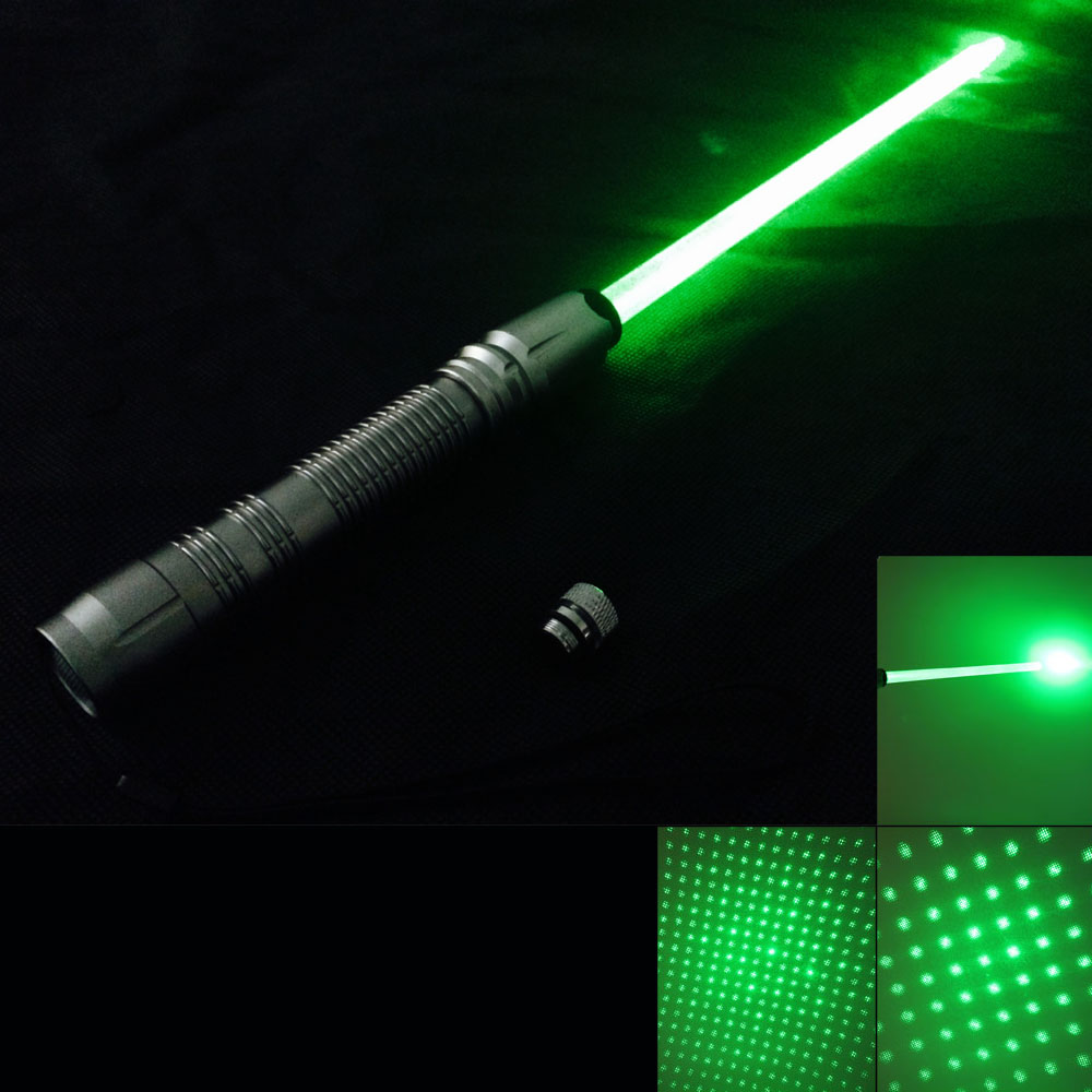 300mW 532nm Green Light with Laser Sword Silver
