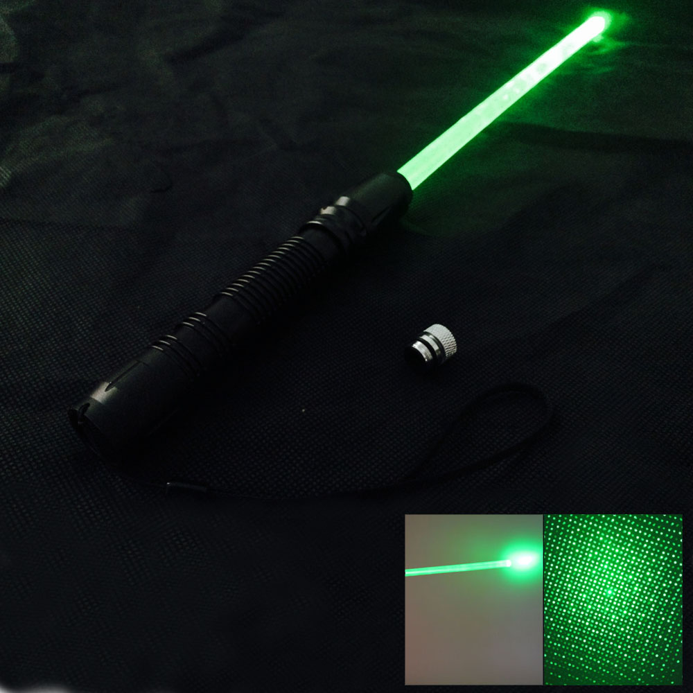 300mW 532nm Green Light with Laser Sword Black