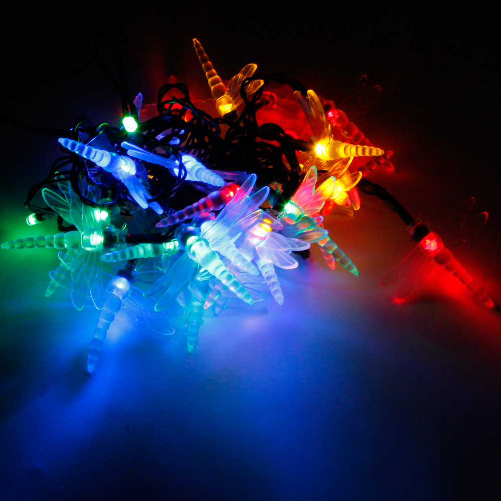 Philips Led String Lights Dragonfly : Reviews of MarSwell 30 LED Colorful Light Solar Christmas Dragonfly Style Decorative String ...