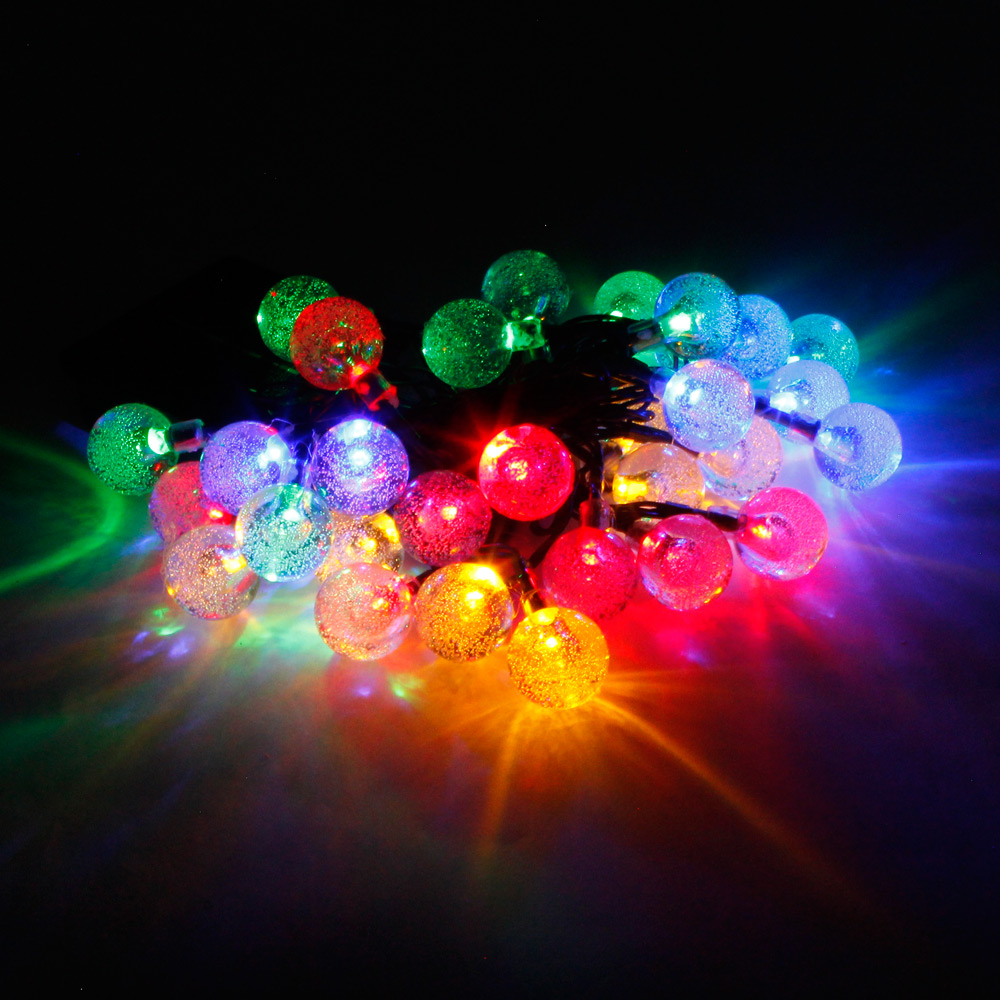 Colorful String Lights : Reviews of MarSwell 30 LED Colorful Light Solar Christmas Decorative String Light ...