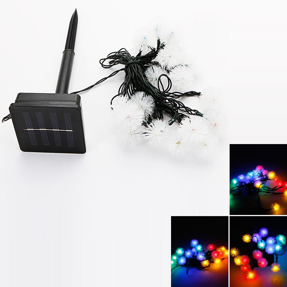 Reviews of MarSwell 20-LED Colorful Light Ball Shape Solar Christmas Decorative String Light ...