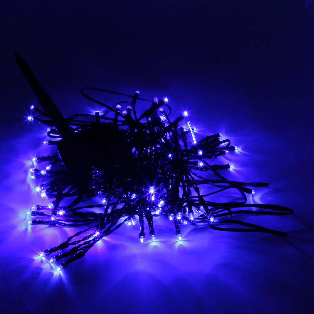 High Quality 200LED Waterproof Christmas Decoration Blue Light Solar Power LED String Light (12M ...