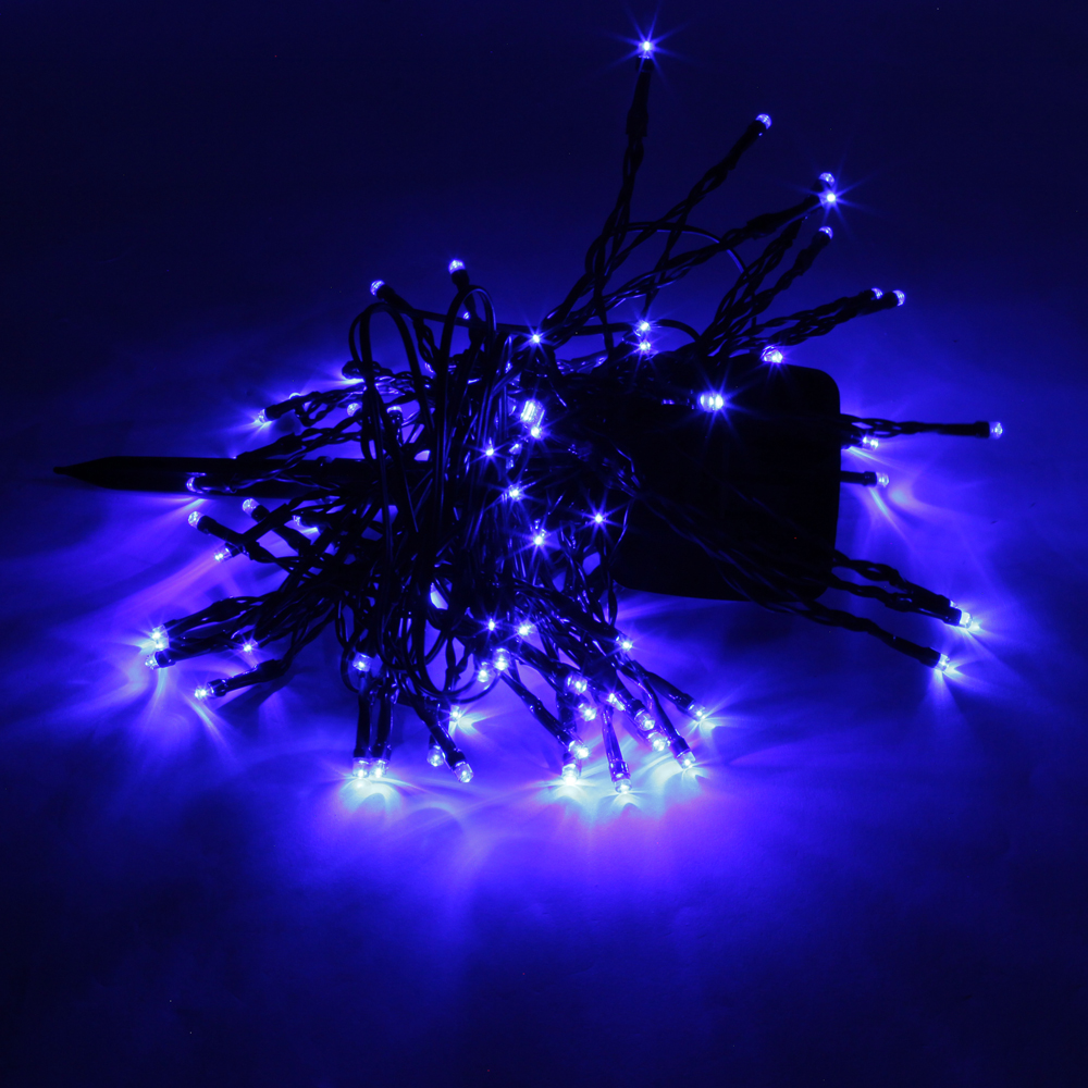 High Quality 200LED Waterproof Christmas Decoration Blue Light Solar Power LED String Light (12M ...